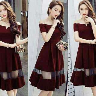 Dress Stella Sabrina Wedges harga termurah