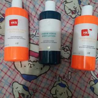H&M Lotions from Hong Kong!