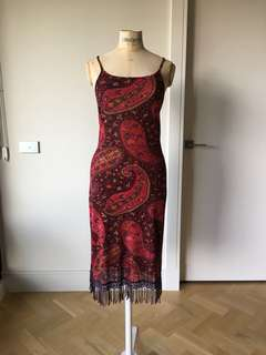 Size Med - George Ermis fringed dress