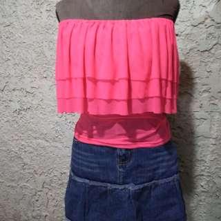 Preloved Pink Offshoulder - used top