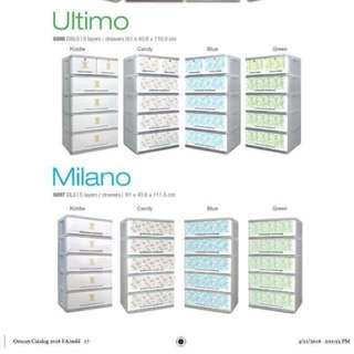 Ultimo and Milano Drawer