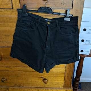 American Apparel black denim shorts size 30/31
