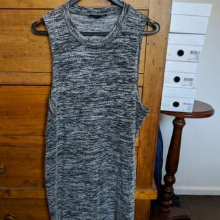 Fitted casual grey dress fits size 12-14