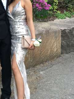 Sequin Prom Dress with a Slit on the side