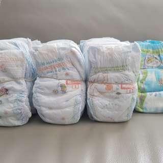 Lot of Huggies Diapers