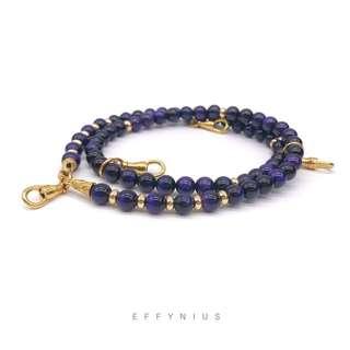 24K Gold Plated Purple Tiger Eye Amulet Necklace 5A 24K鍍金紫虎眼石佛牌項鍊