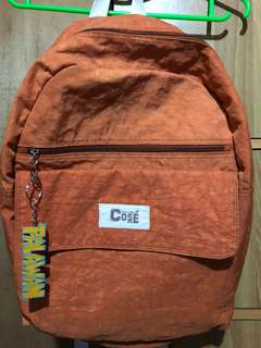 Bag, backpack, Orange, white, Cose
