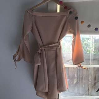 West End Doll dusky pink playsuit