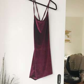 Gorgeous NEVER WORN velvet dress