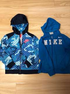 Nike authentic 2/jackets fit boy size 8/10 price for 2