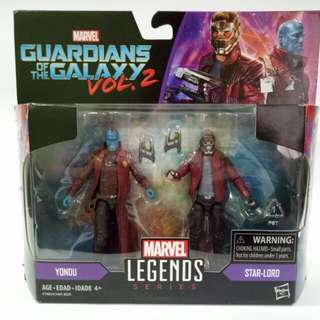 Marvel Legends Series Yondu and Starlord 3.75 Inch Figure Set