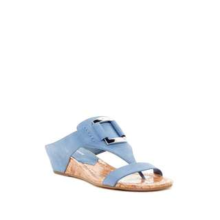 New Donald Pliner Daun Wedge Sandals in Sky