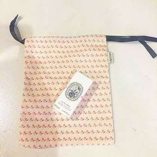 Authentic Dipityque Rose Perfume and Pouch