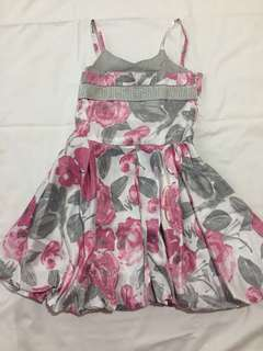 Pink & Gray Floral Dress
