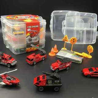 消防車合金模型收納遊戲組