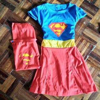 Supergirl costume with cape
