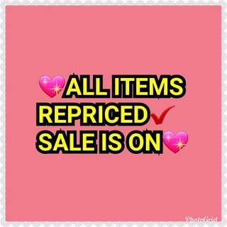 ALL ITEMS REPRICED✔✔✔💖💖💖