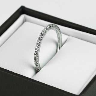 Michael Hill SIZE O 14kt White Gold 0.18ct Diamond Set Womens Wedding Band