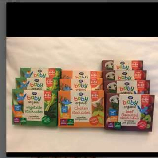 Boots baby organic stock cubes 66g soup food