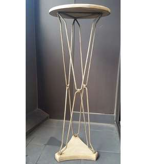 Get Creative with this White Mosaic Tiled Tall Table 1M tall 37cm diameter