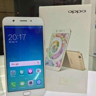 BRAND NEW OPPO F1S , COMPLETE PACKAGE! FREE TEMPERED GLASS & JELLY CASE..