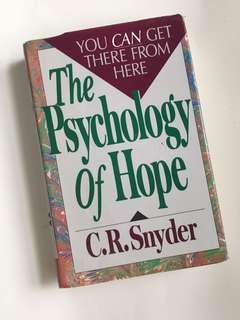 The Psychology of Hope. Hardbound