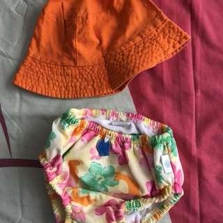 iOplay swim undies with free orange hat