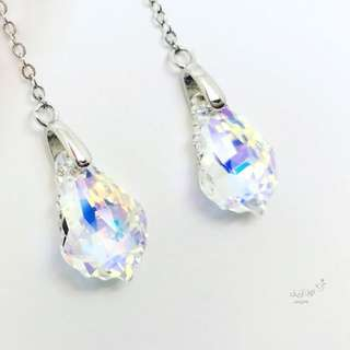 Silver earrings with Swarovski ✨