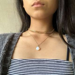 Choker and necklace