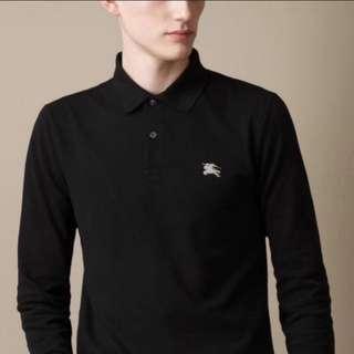 Burberry polo shirt long sleeves