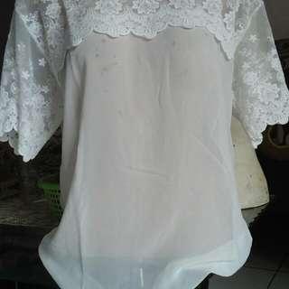 (Jastip) white blouse