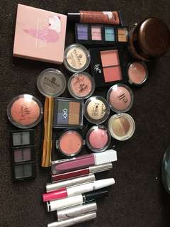 Bag of used makeup