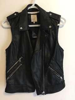 Zara faux leather vest