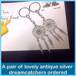 Dreamcatcher Keychain (antique silver) [ dangles children teachers day birthday party door graduation farewell bff gifts presents handmade uncle.anthony uncle anthony uac ] FOR MORE PICTURES & DETAILS, GO HERE: 👉 http://carousell.com/p/149286625