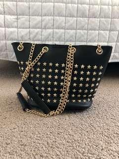 Black Star Studded Bag