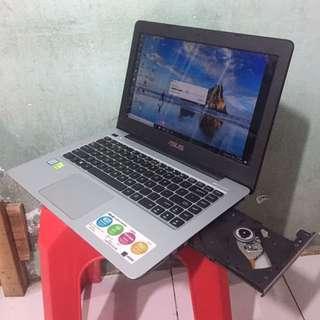 MASIH GARANSI LAPTOP ASUS A456U core i5-7200 VGA NVIDIA GT930MX 2GB GAMING DESIGN