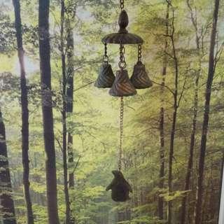 銅製企鵝造型風鈴