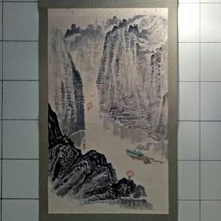 Chinese Landscape Painting Size 97x60cm