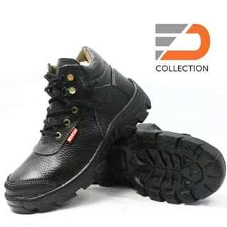 sepatu safety murah meriah asli kulit