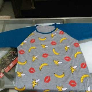 Kaos banana anak umur 10-12thn