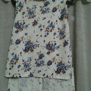 Long back Floral Sleeveless
