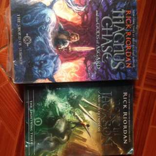 RICK RIORDAN BOOKS ( Magnus Chase & The gods of asgard I and Percy Jackson I)