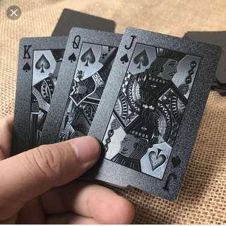 Water proof black diamond playing cards