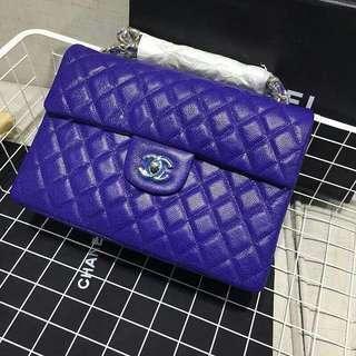 💁♀️  Chanel 頂級內外全真皮外魚子醬x內純羊皮大號 💁♀️jumbo maxi 30cm