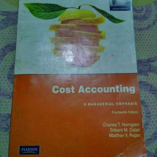 Cost Accounting: A Managerial Accounting
