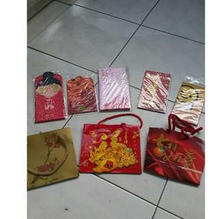 5 packs of red packets plus 3 oranges bags
