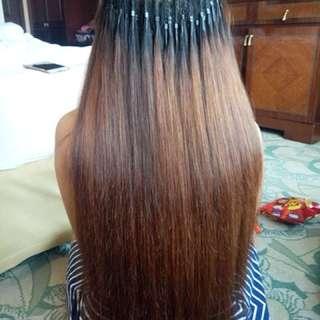 Extension rambut asli super tebal