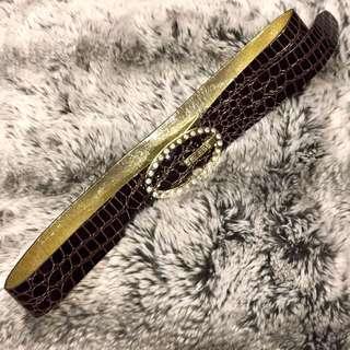 GUESS Faux Snake Skin Belt