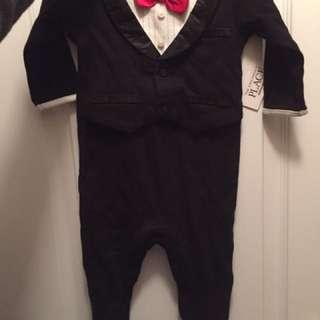 Baby boy tuxedo onesie