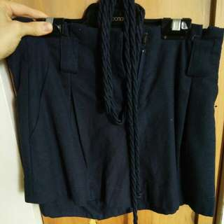 Brand new high waisted navy shorts